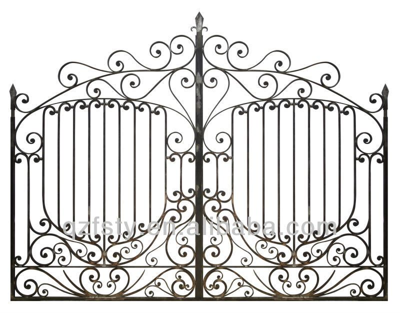 Modern Wrought Iron Main Gates Designs Models For Villa Iron