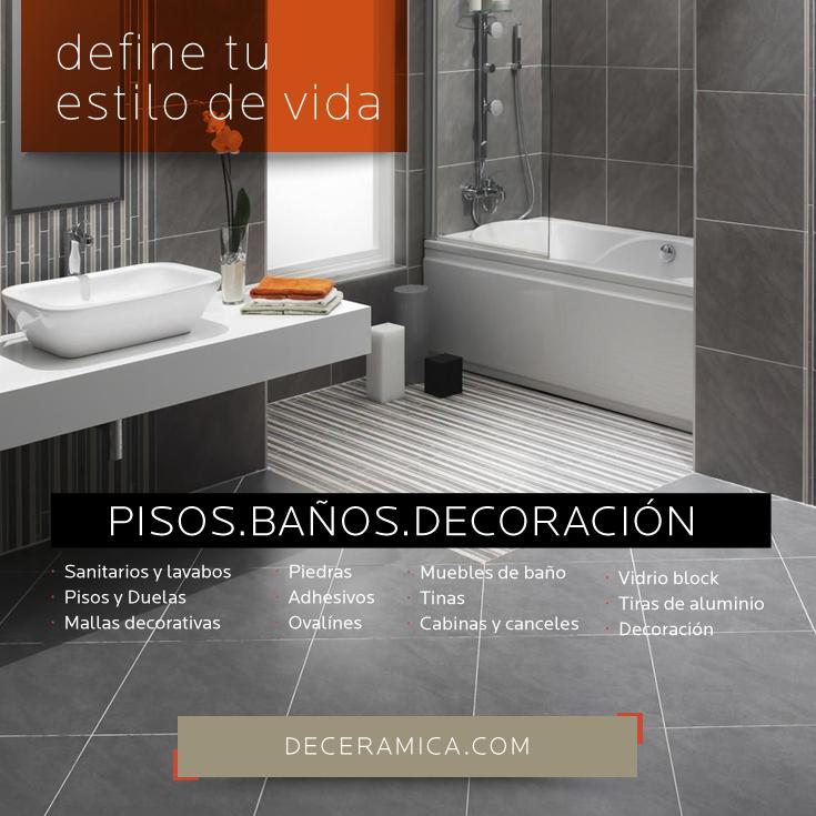 DEFINE TU ESTILO DE VIDA | En DeCeramica.com encontrarás los mejores productos en #piso #baño #decoración con marcas exclusivas y de prestigio.