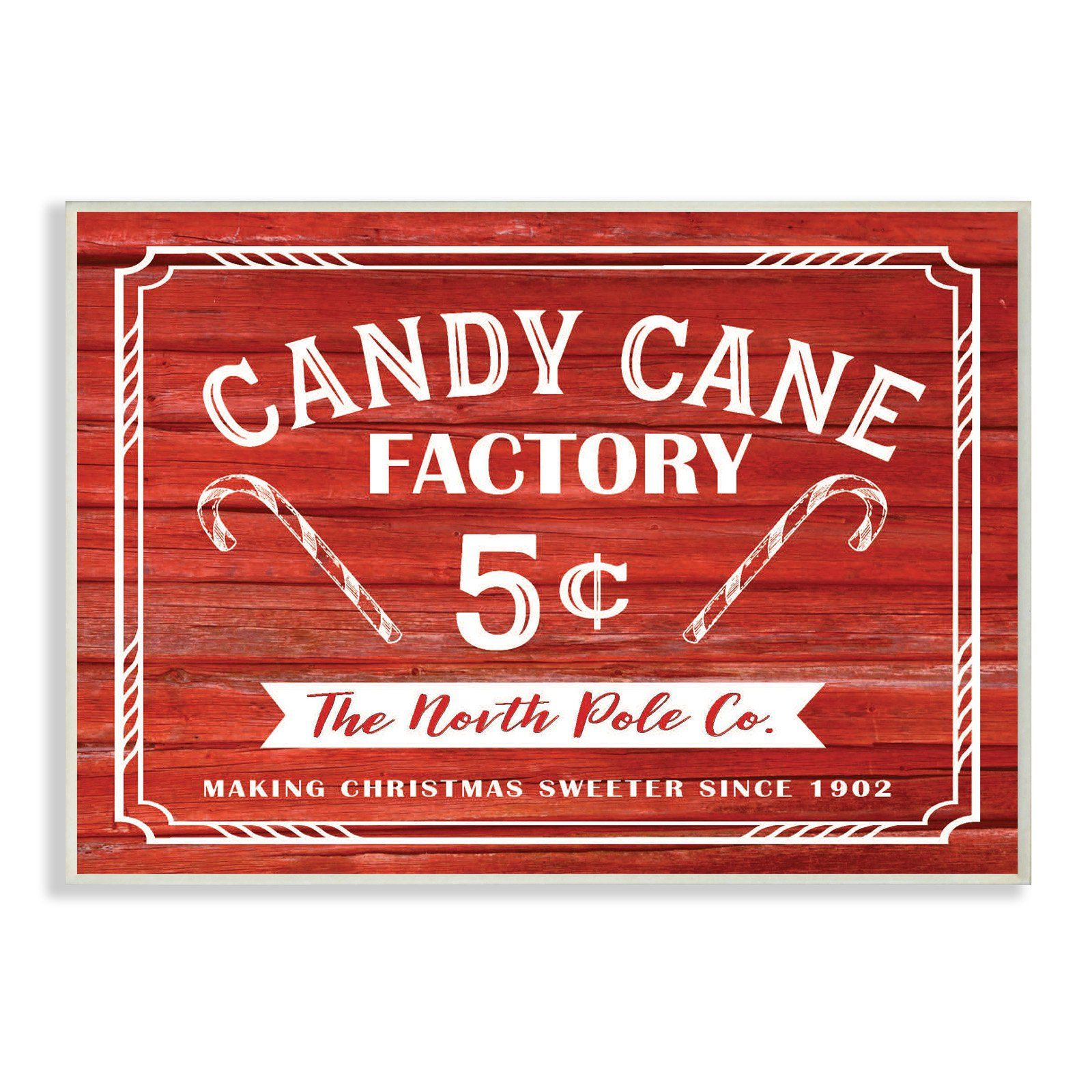 The Stupell Home Decor Collection Candy Cane Factory