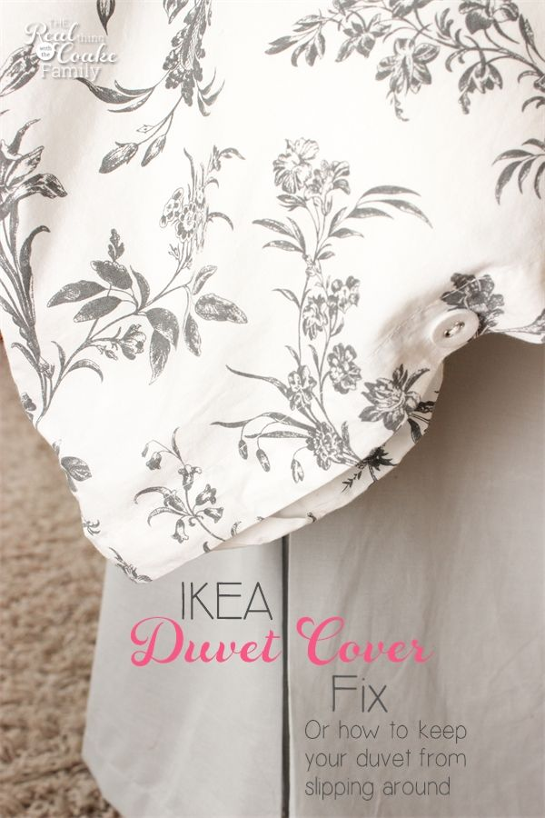 How To Fix Ikea Duvet Covers Inserts From Slipping Around Ikea Duvet Cover Ikea Duvet Diy Duvet