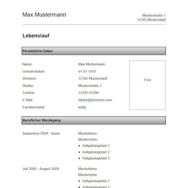 Pin Von Job Resume Auf Job Resume Samples: Klassische Lebenslauf-Vorlage, Grau