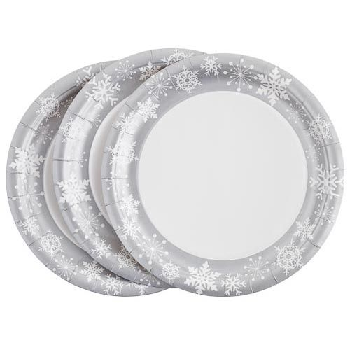 Christmas Snowflake Paper Plates 20 pack | Poundland #poundlandchristmas  sc 1 st  Pinterest & Christmas Snowflake Paper Plates 20 pack | Poundland ...