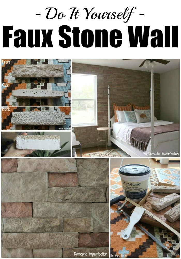 Diy Faux Stone Wall Aka The Best Thing Ever Faux Stone Walls Fake Stone Wall Fake Rock Wall