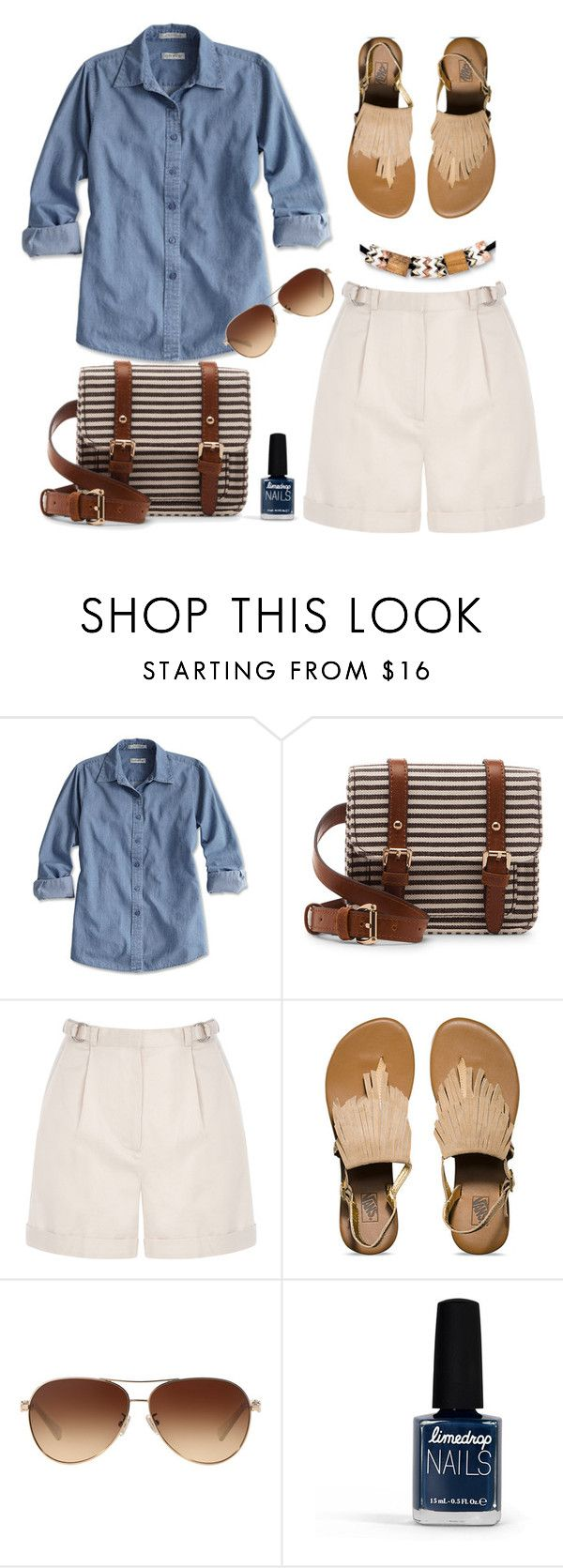 """Denim Shirt"" by ana-angela ❤ liked on Polyvore featuring Sole Society, Warehouse, Vans, Coach, Limedrop and Eddie Borgo"