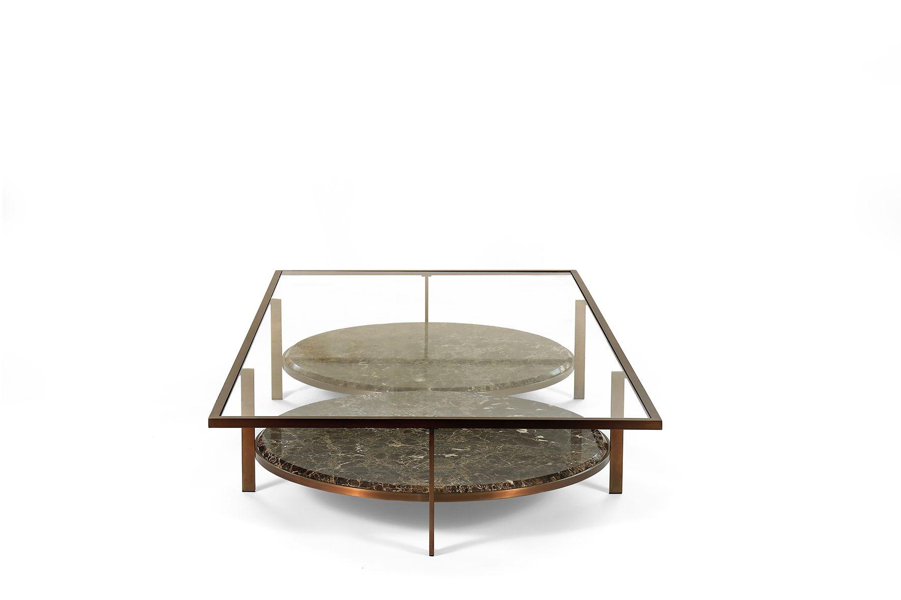 Paul 3 Coffee Tables By Borzalino Metal Frame Crystal Glass Upper Top Marble Lower Top Coffee Table Furniture Sofa 3 Coffee Tables Coffee Table Table [ 1181 x 1772 Pixel ]