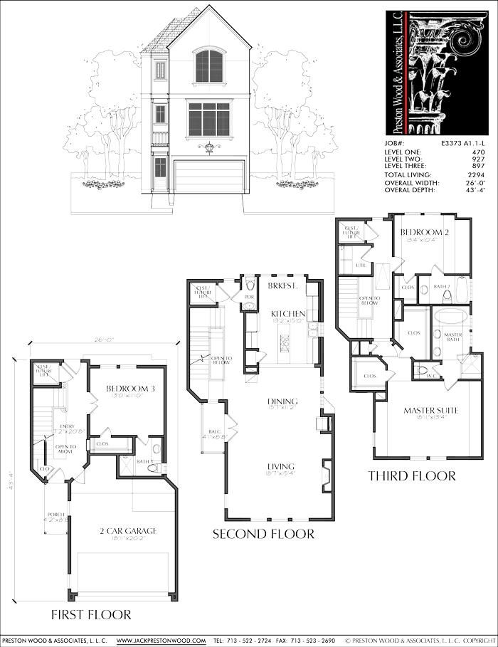 New Townhomes Plans Narrow Townhouse Development Design Brownstones Preston Wood Associates Sims House Design Modern House Plans House Plans
