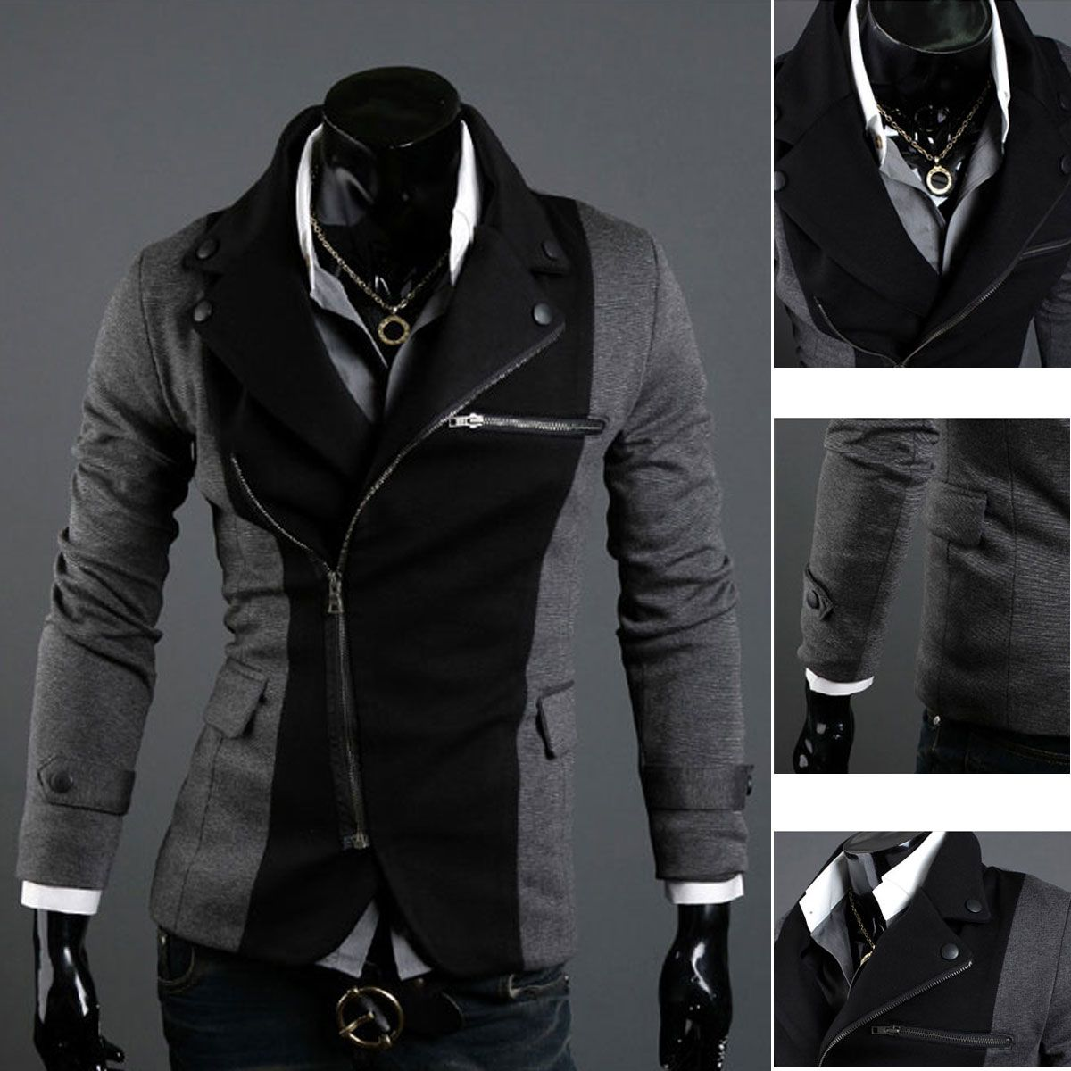 New TOP Design Mens Casual Sexy Slim FIT Blazers Coats Suit ...