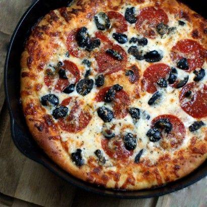 Pizzeria Style Deep Dish Pizza Recipe Food Deep Dish Food