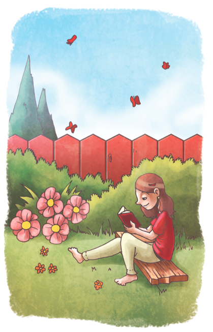 Lectura Al Aire Libre Love Art Images Cartoon Illustration Illustration Art