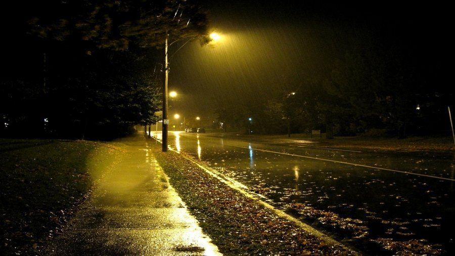 rainy night 風景, 雨