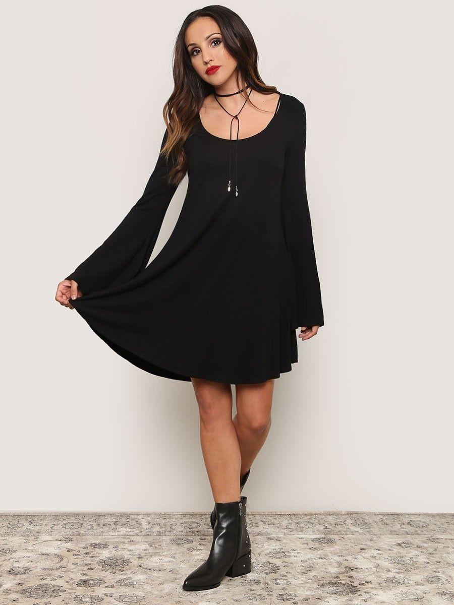 4d26a1d9970d Sabrina Bell Sleeve Dress