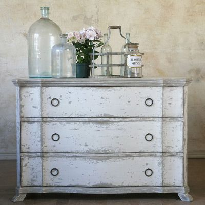 Eloquence Bordeaux Commode Shabby Chic Dresser White Washed Furniture Shabby Chic Furniture