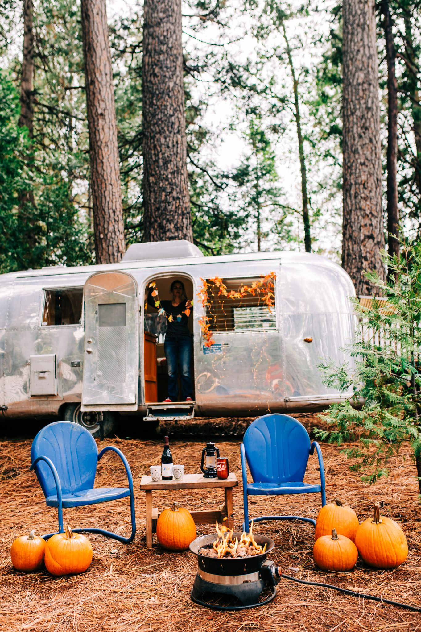 Decorate your airstream and go fall camping photo by