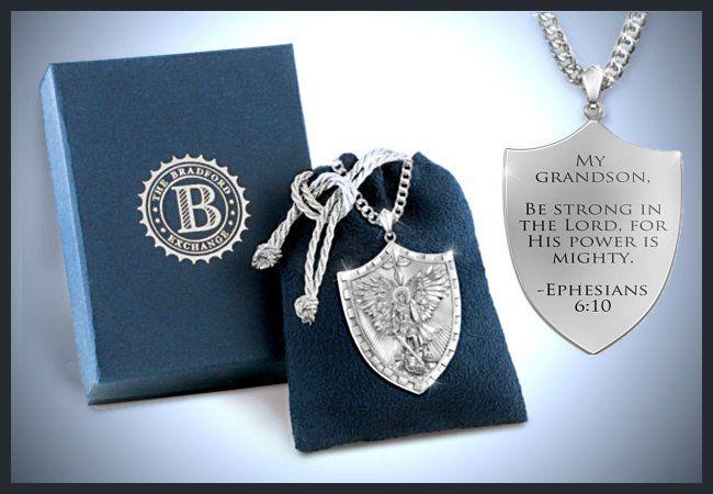 Triumph of st michael pendant necklace for your grandson gift triumph of st michael pendant necklace for your grandson mozeypictures Gallery