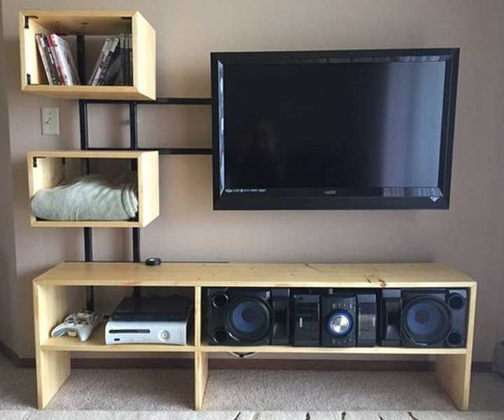 20 Diy Creative Tv Stand Ideas For Your Room Tv Stand Designs
