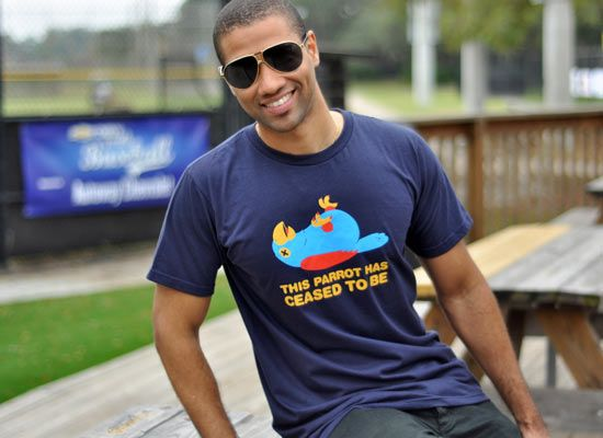 1Tee Mens This Parrott Has Ceased To Be T-Shirt
