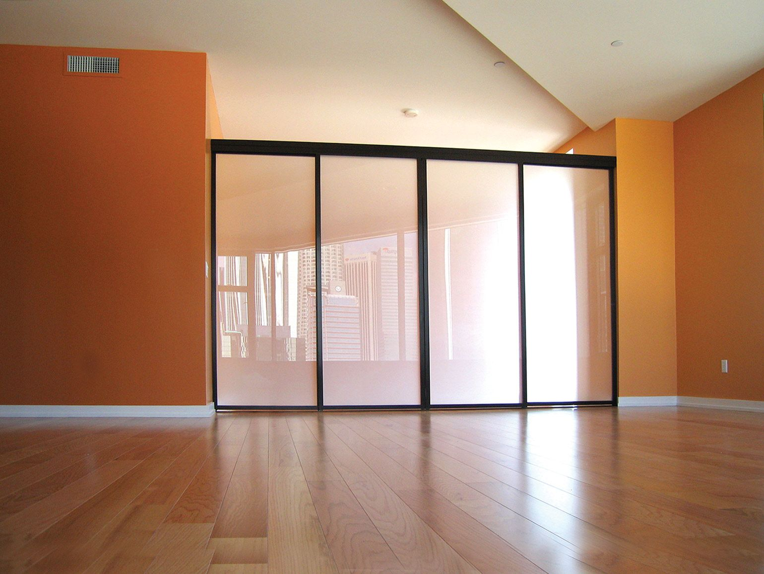 Sliding Glass Room Dividers create an instant bedroom ...