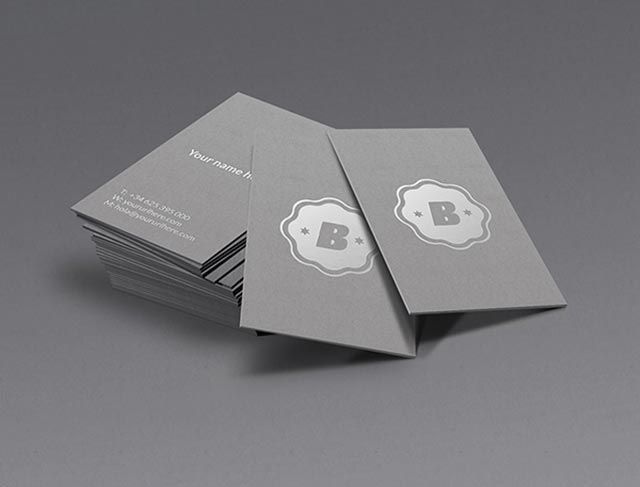 Cool Silver Business Card Mockup Psd Template Available For Free