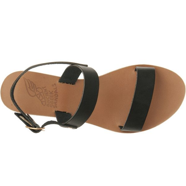 Ancient Greek Sandals Clio Wedge (510 ILS) ❤ liked on Polyvore featuring shoes, sandals, ankle tie sandals, leather sandals, wedges shoes, leather sole sandals and leather ankle strap sandals