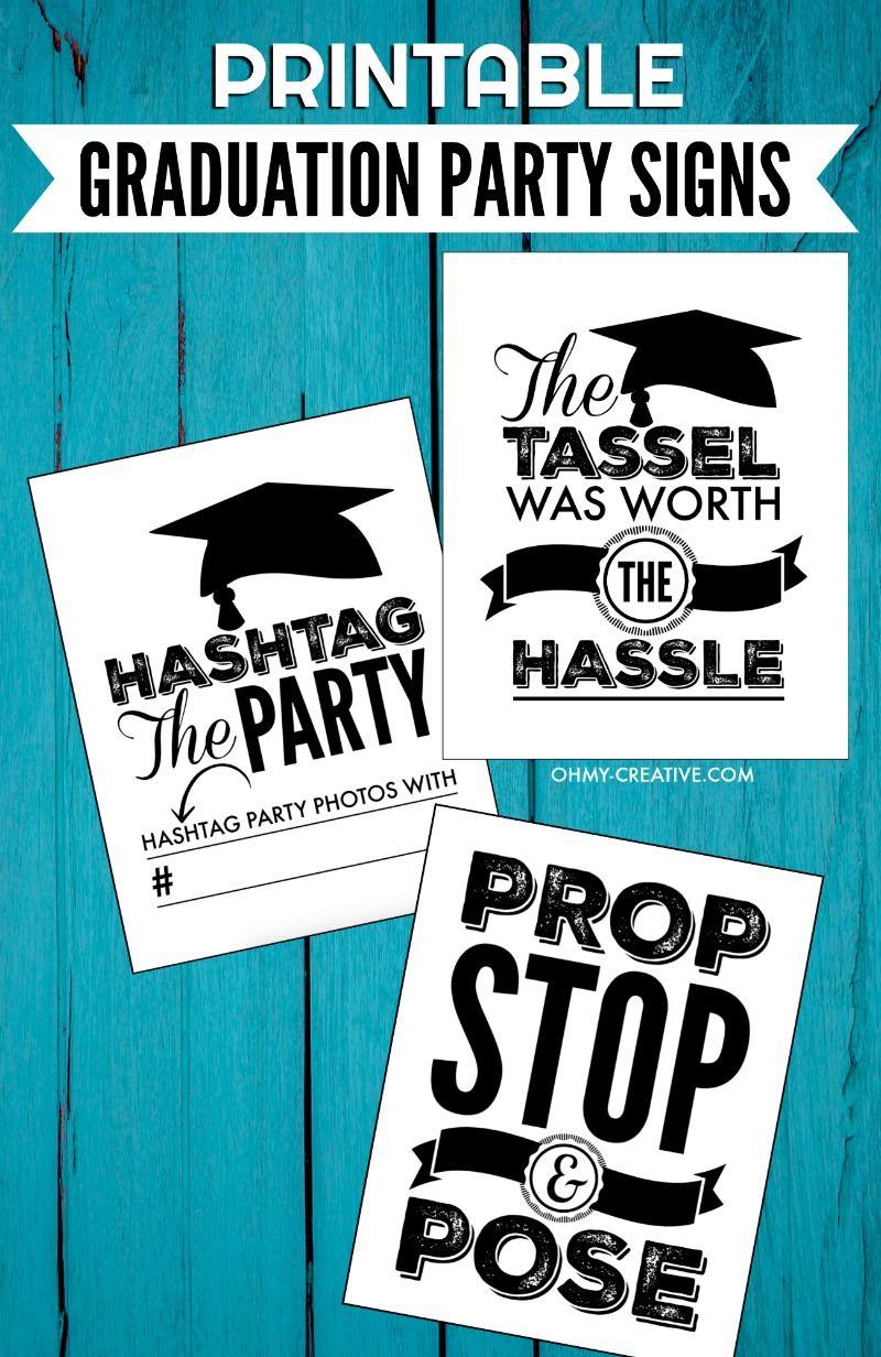 printable graduation signs for