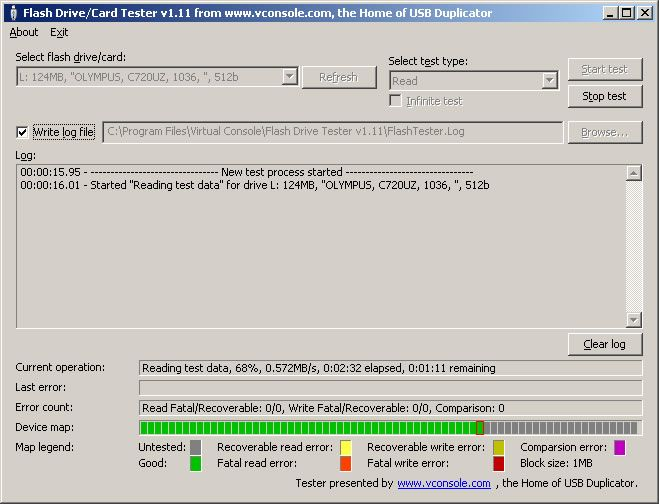 USB Flash Drive Tester