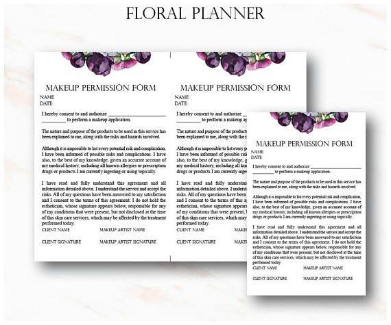 Floral Makeup Artist Business Planner Bundle Freelance Makeup Etsy Makeup Artist Business Wedding Makeup Wedding Makeup Artist