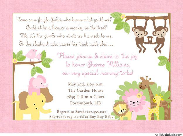 baby shower invitations | jungle safari shower invitation - baby, Baby shower invitations