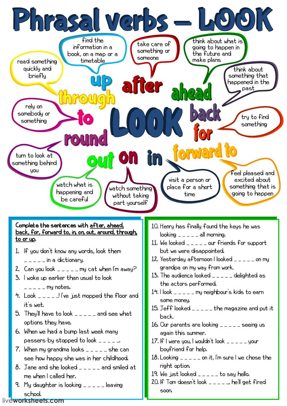 Phrasal Verbs Interactive And Downloadable Worksheet You Can Do The Exercises Online Or Download The Workshe Verb Worksheets English As A Second Language Verb [ 1413 x 1000 Pixel ]