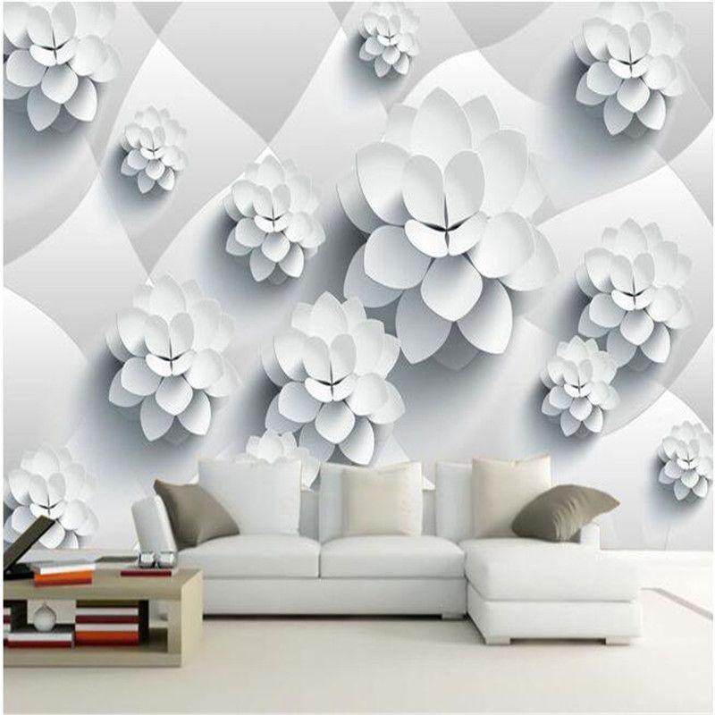 Custom photo wallpaper High quality silk cloth wallpaper modern