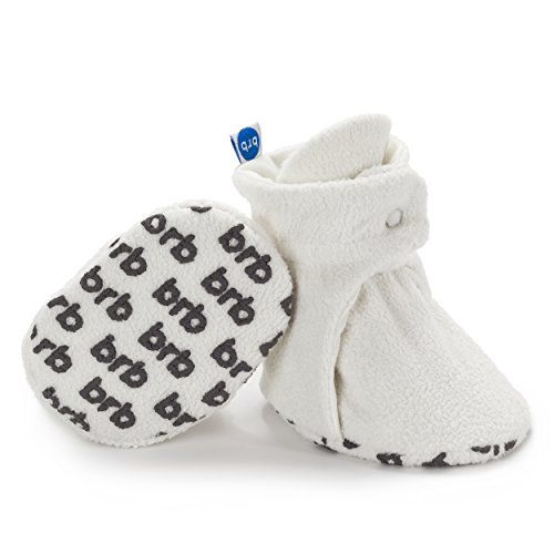 e1d8e7818254 BirdRock Baby Fleece Booties Organic Cotton Lining and AntiSlip Grippers US  25 36 Months 40in Sole Cream    Click on the image for additional details.