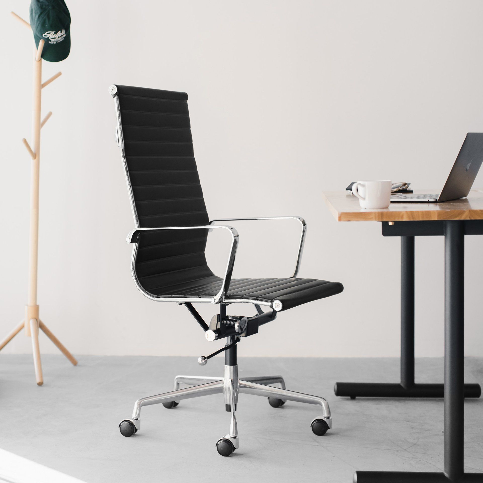 Ships april 30th soho tall back ribbed management chair
