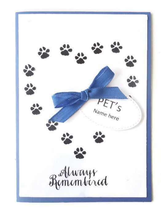 Pet Sympathy card  Personalized with Pet's name  Forever | Etsy