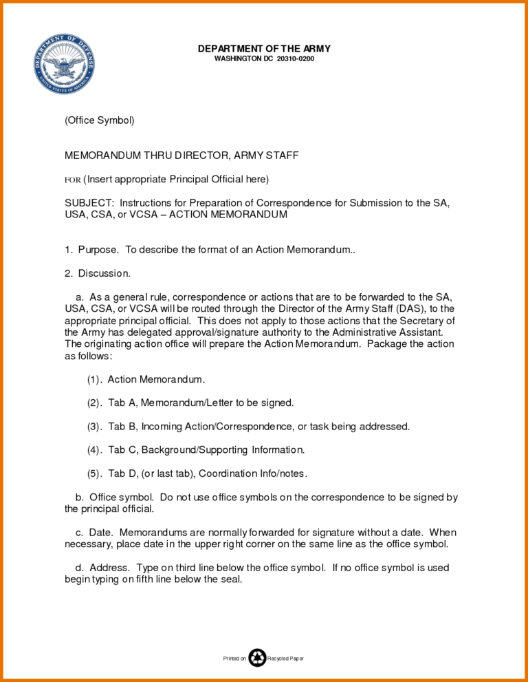Memo Template Army Free Resume Example Inside Army Memorandum Template Word Cumed Org Memo Template Memorandum Template Free Resume Examples