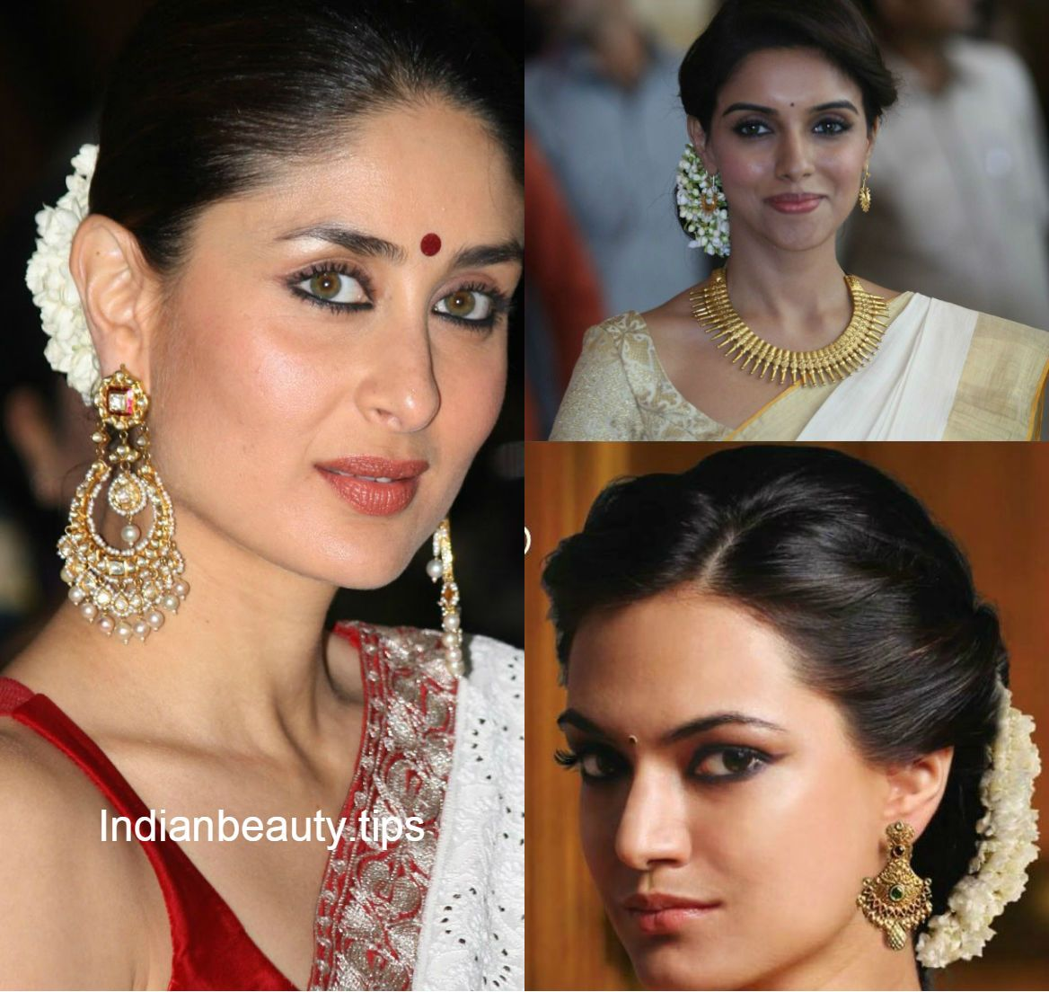Wedding Hairstyle For Square Face: Traditional South Indian Hairstyle