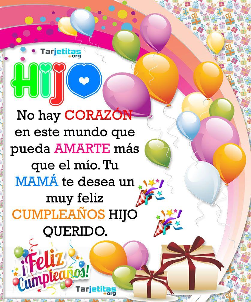 Frases de cumpleaños para una hija   Tarjetitas en 2020   Cumpleaños hijo,  Mensajes de cumpleaños hijo, Frases de cumpleaños hijo