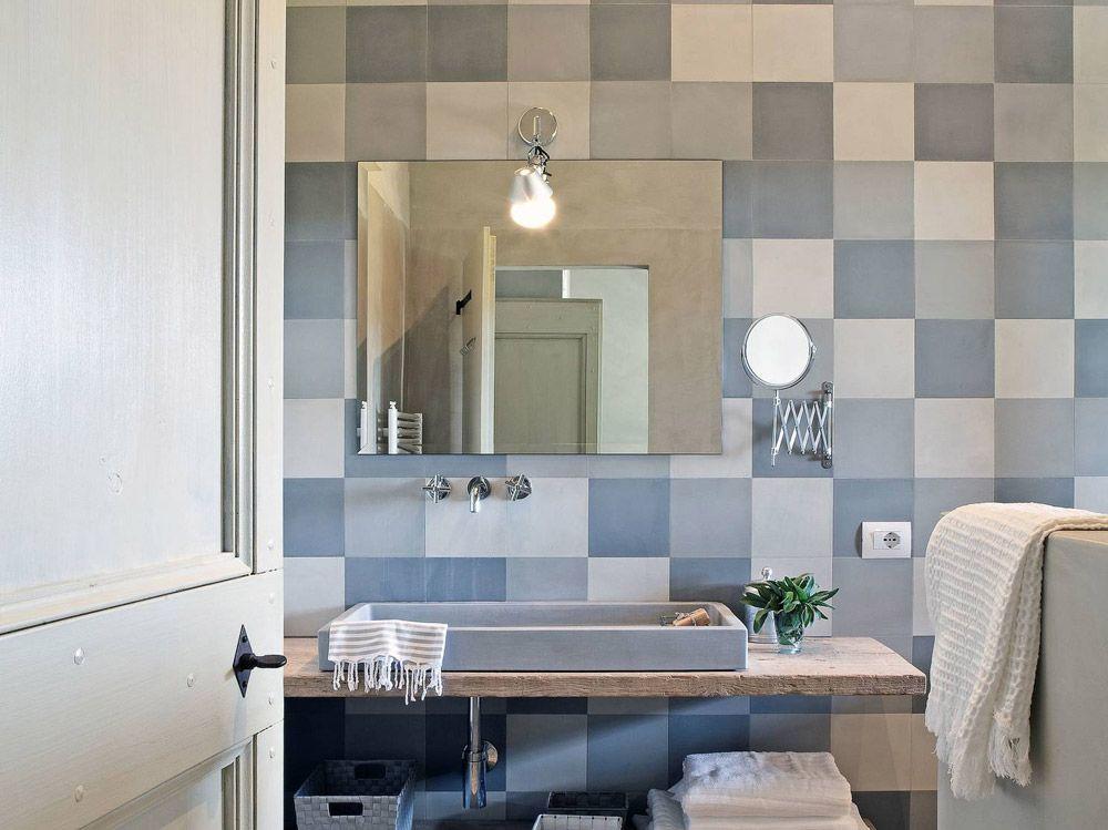 40 idee di bagno in blu e bianco