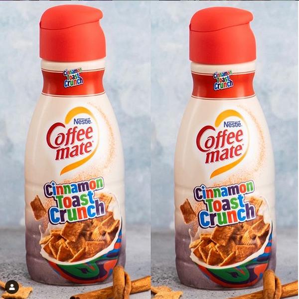 Coffee Mate Cinnamon Toast Crunch Creamer | Cinnamon toast crunch, Cinnamon toast, Cinnamon crunch
