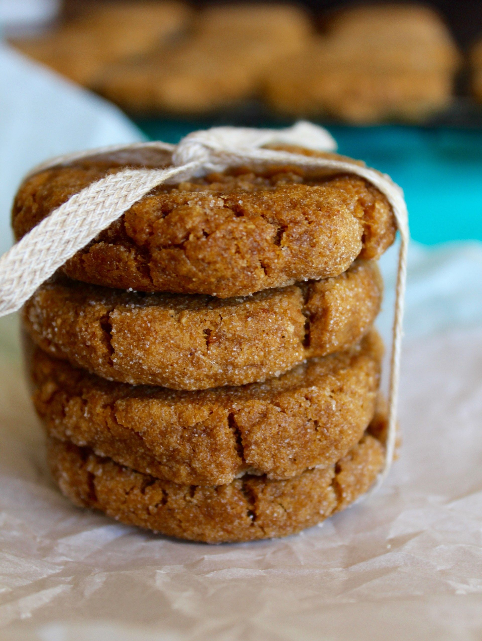 Vegan Pumpkin Ginger Molasses Cookies