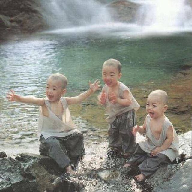 Fun in the water- love the look on their faces, so happy!