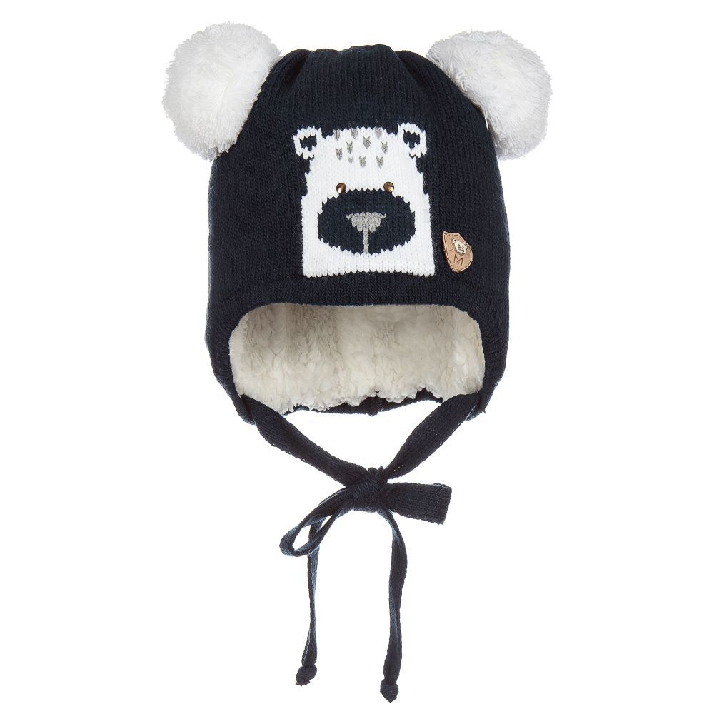 Jamiks Knitted Bear Pom-Pom Hat. Shop from an exclusive selection of  designer Hats at Childrensalon.co. f3008a85d8ce