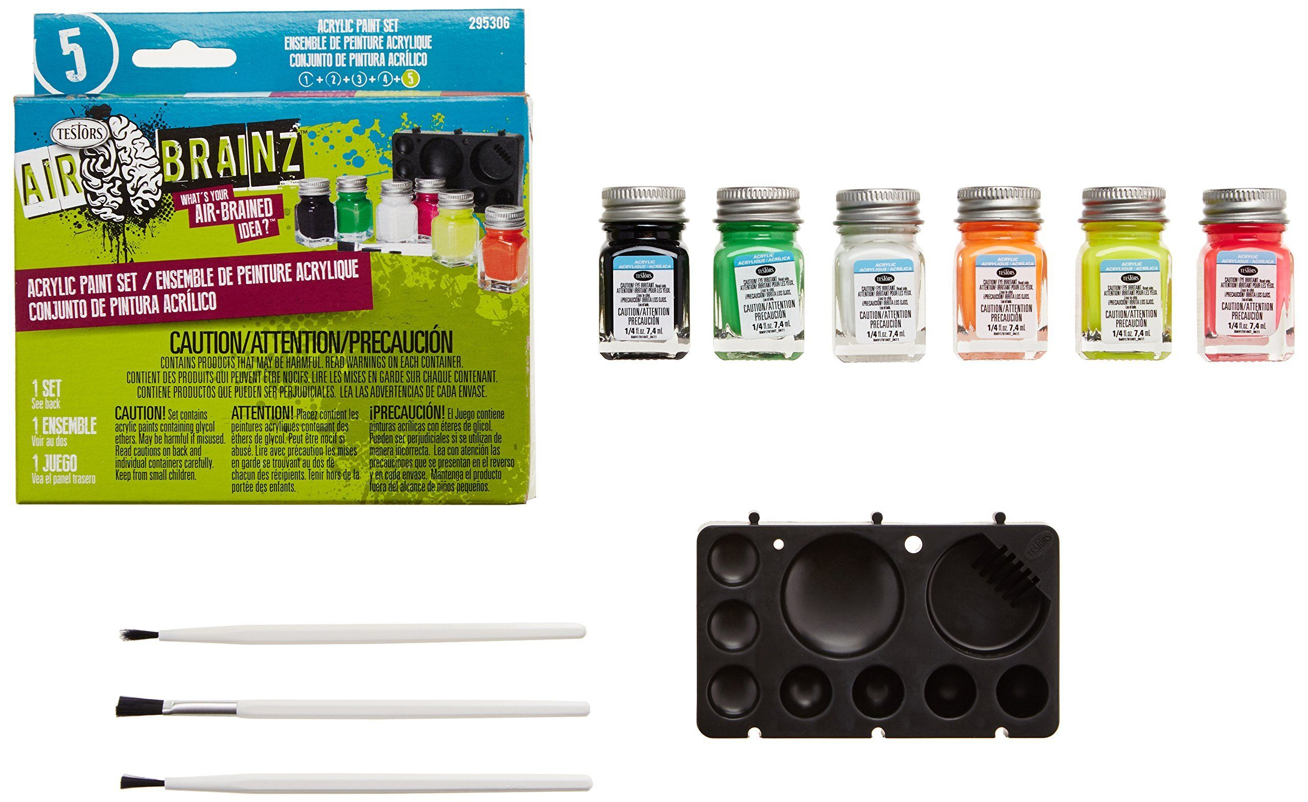 Testors Fluorescent Airbrainz Acrylic Paint Set See This Great Product This Is An Affiliate Link Artpaintingki Acrylic Paint Set Paint Set Painting Kits