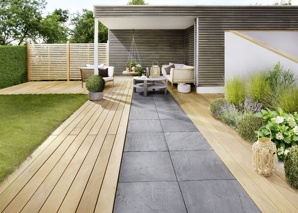 Terrasse #Ammonit #Keramik #Boden #Klaiber #Markise #Lechuza