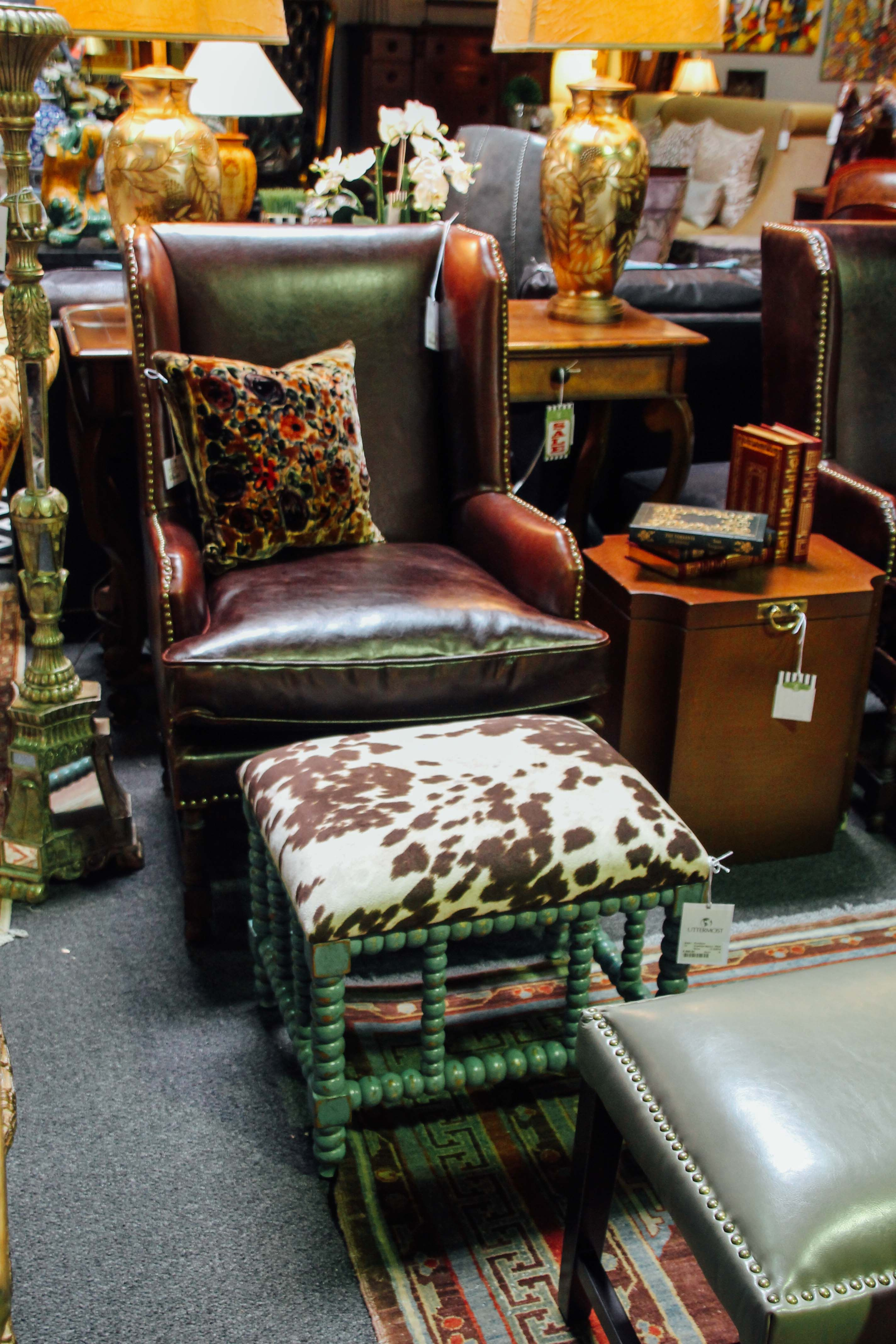 Delightful Dark Brown Leather Chair Found At Avery Lane Fine Consignment In Scottsdale,  Arizona.