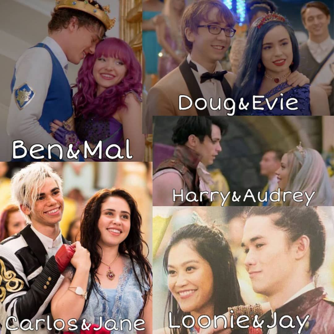 "DESCENDANTS on Instagram: ""Your favorite? #descendants #descendants2 #descendants3 #ships #couple #descendantsships #janexcarlos #loonie #descendantsjay…"""
