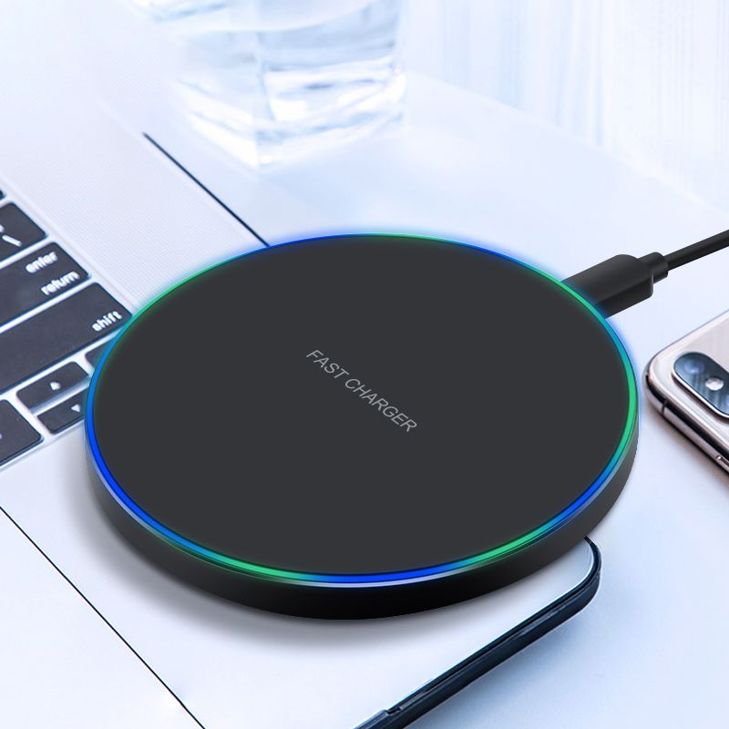 10W Qi Wireless Charger For Iphone 11 Pro X Xs MAX XR 8 Plus For Samsung S8 S9 S10 Galaxy Note 9 Xiaomi Charging USB Pad