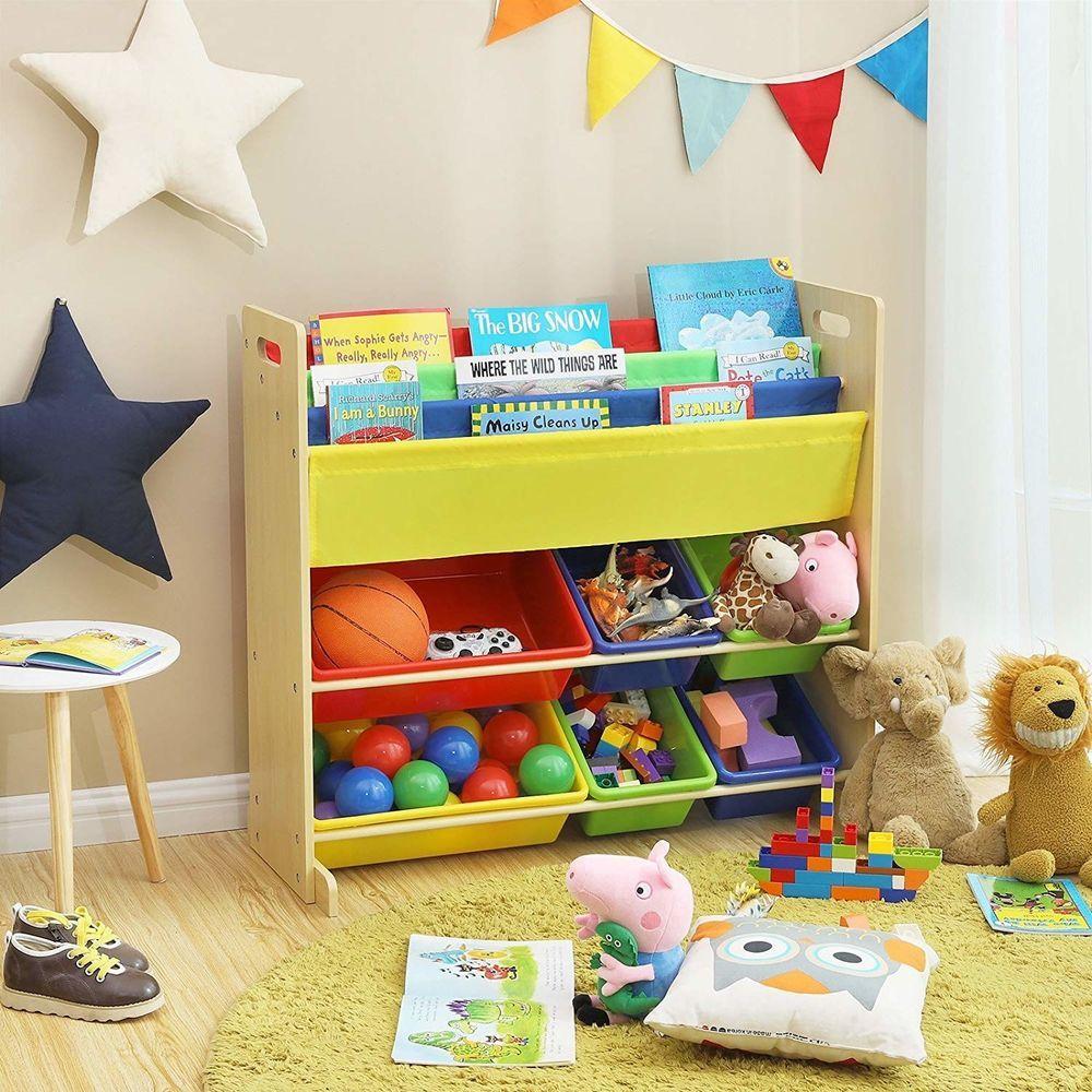 Multicolor Toy Storage Unit Organizer