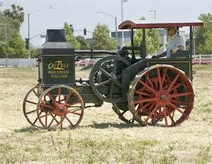Vintage Rumely Oil-Pull tractor.  Advance-Rumely would eventually be purchased by Allis-Chalmers.