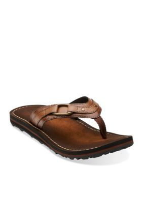 clarks abby flip flop