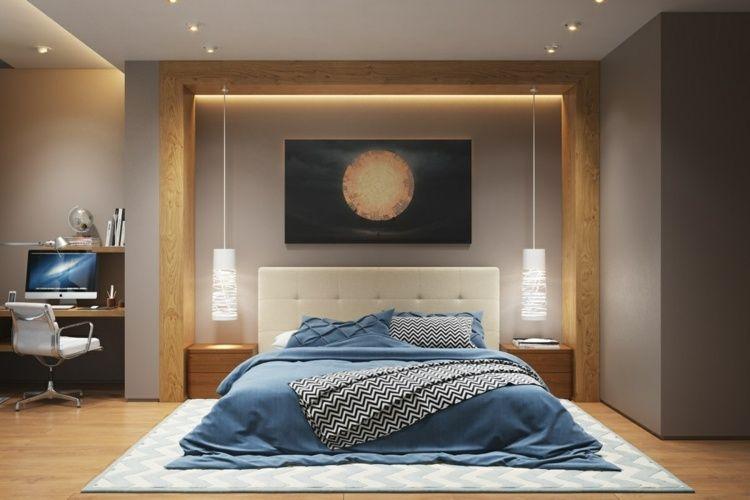 Pendelleuchte Schlafzimmer ~ Weiße schlafzimmer pendelleuchten über den nachtschränken
