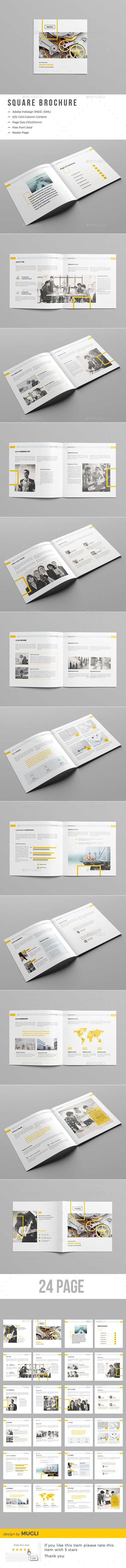 The Square Brochure — InDesign Template #manual #marketing ...